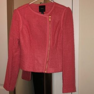 Pink tweed Moto jacket
